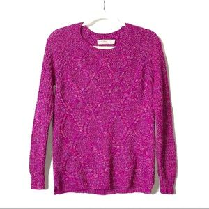 Faded Glory | Pink Crewneck Cable-Knit Sweater |S